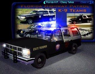 1998 chevrolet tahoe florida highway patrol k 9 unit   nfs